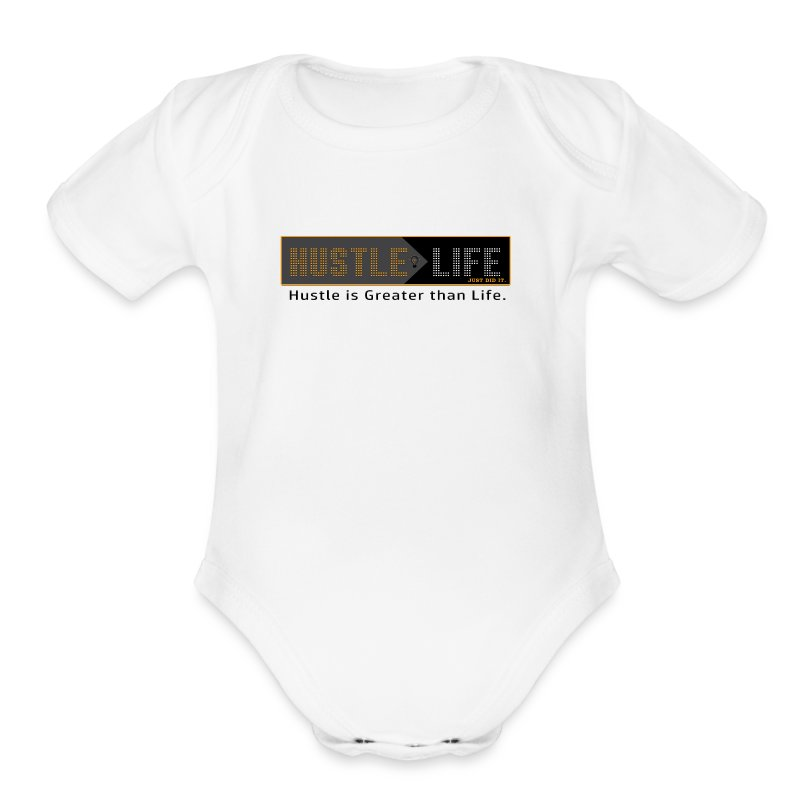 Hustle_Life - Short Sleeve Baby Bodysuit