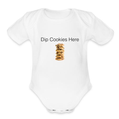 Dip Cookies Here mug - Organic Short Sleeve Baby Bodysuit