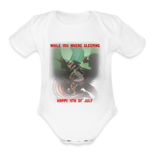While You Where Sleeping - Short Sleeve Baby Bodysuit