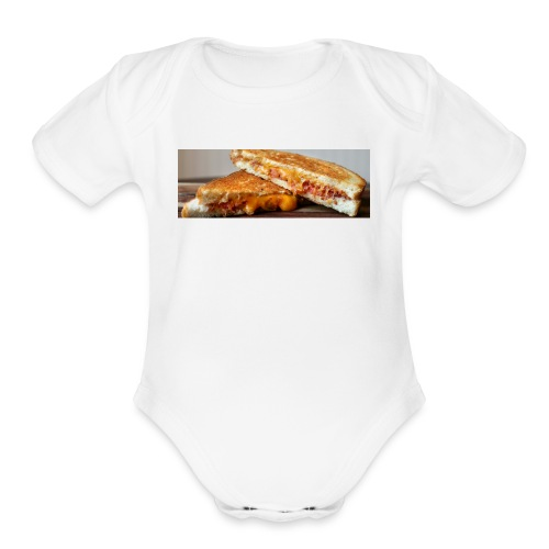Grille cheese - Organic Short Sleeve Baby Bodysuit