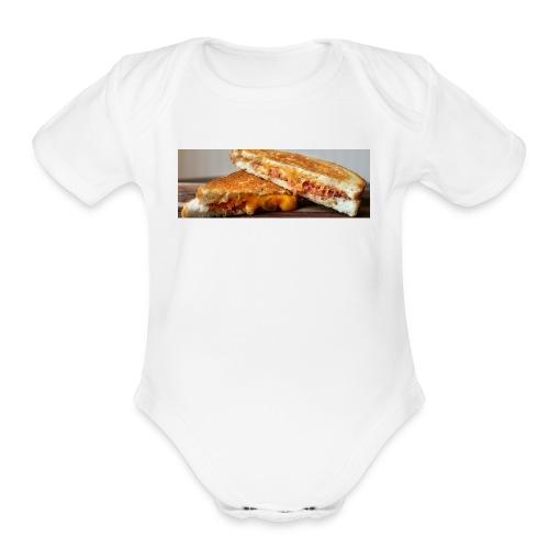 Grille cheese - Organic Short Sleeve Baby Bodysuit