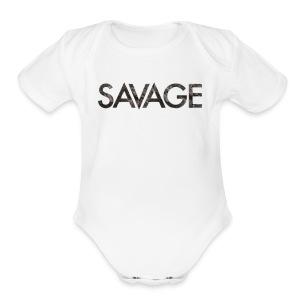 Savage hoodie - Short Sleeve Baby Bodysuit