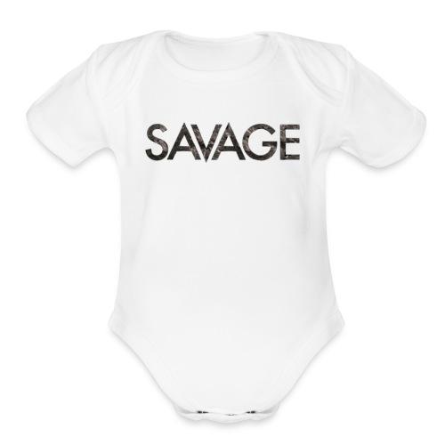 Savage hoodie - Organic Short Sleeve Baby Bodysuit