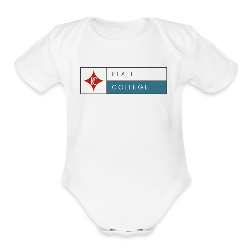 Platt College Logo 2000 - Organic Short Sleeve Baby Bodysuit