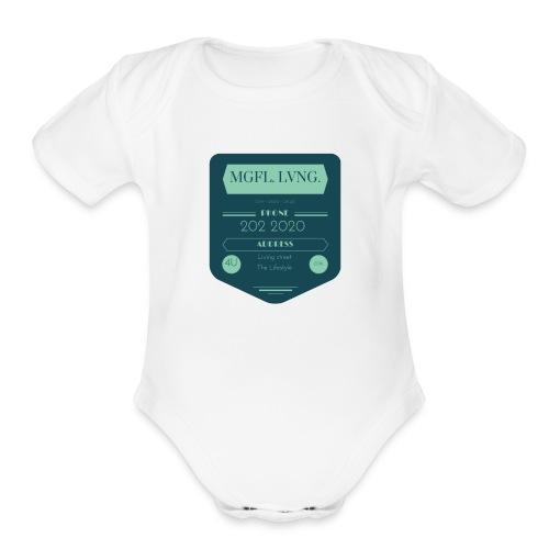 1MeaningfulLiving4U - Organic Short Sleeve Baby Bodysuit