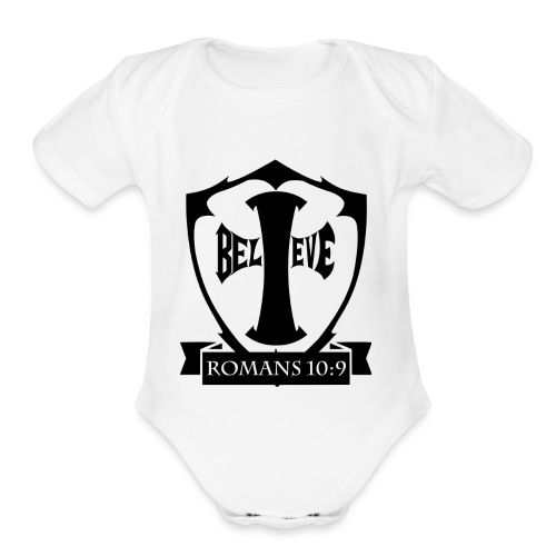 romans109-final - Organic Short Sleeve Baby Bodysuit