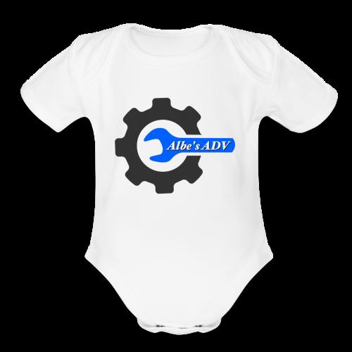 AlbesADV cog - Organic Short Sleeve Baby Bodysuit