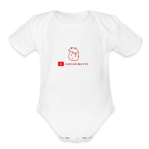 JakeAnimates - Organic Short Sleeve Baby Bodysuit
