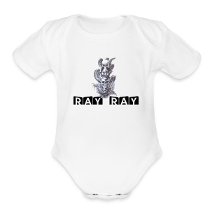 ray ray devil tee - Short Sleeve Baby Bodysuit