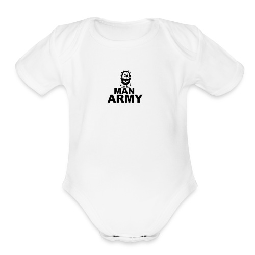 The man army - Organic Short Sleeve Baby Bodysuit