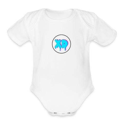 XD in cirlce - Organic Short Sleeve Baby Bodysuit