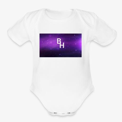 New BlazeHawk15 Logo - Organic Short Sleeve Baby Bodysuit