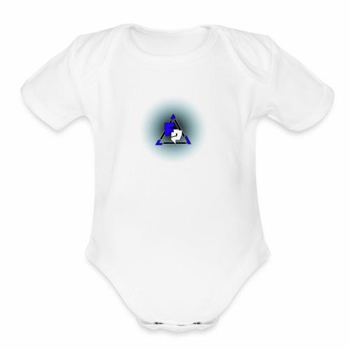 Peak logo tran - Organic Short Sleeve Baby Bodysuit