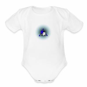 Peak logo tran - Short Sleeve Baby Bodysuit