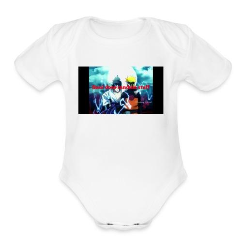 Saul does random stuff - Organic Short Sleeve Baby Bodysuit