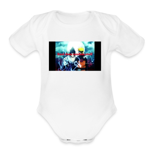 Saul does random stuff - Organic Short Sleeve Baby Bodysuit