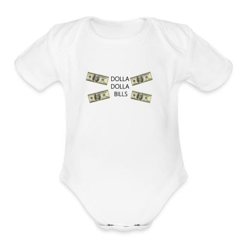 Dolla - Organic Short Sleeve Baby Bodysuit