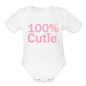 100cutie - Short Sleeve Baby Bodysuit