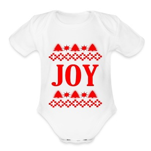 Christmas Joy - Short Sleeve Baby Bodysuit