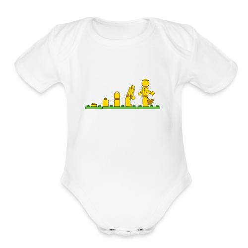 Lego Man Evolution - Organic Short Sleeve Baby Bodysuit