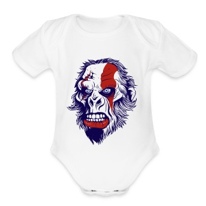 funny t shirt design with gorilla - Short Sleeve Baby Bodysuit