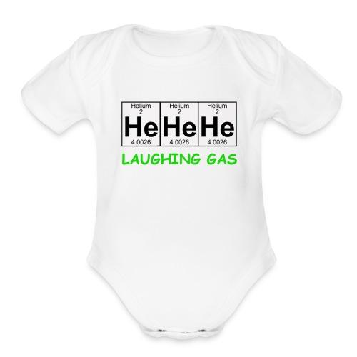 Laughing Gas T Shirt - Organic Short Sleeve Baby Bodysuit