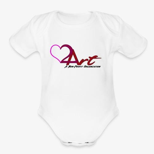 Heart2Art - Organic Short Sleeve Baby Bodysuit