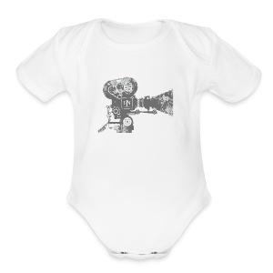 HNF_Camera - Short Sleeve Baby Bodysuit