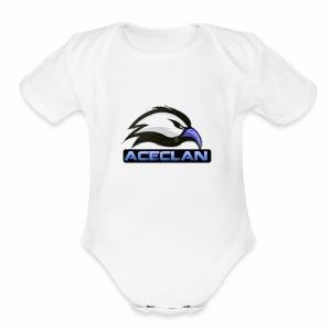 Eagle aceclan logo - Short Sleeve Baby Bodysuit