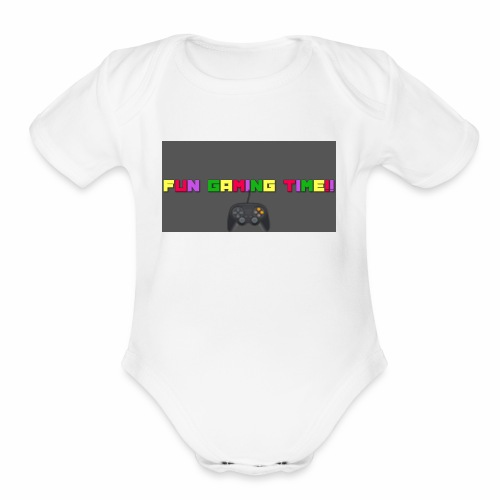 It's Gaming Time - Organic Short Sleeve Baby Bodysuit
