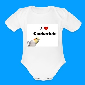 Cockatiels - Short Sleeve Baby Bodysuit