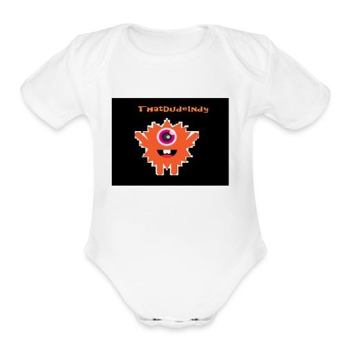 ThatDudeIndy Logo - Organic Short Sleeve Baby Bodysuit