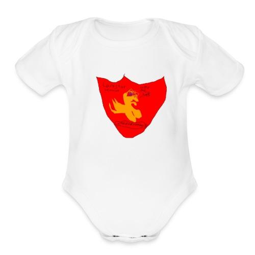kk i am cool d00d - Organic Short Sleeve Baby Bodysuit