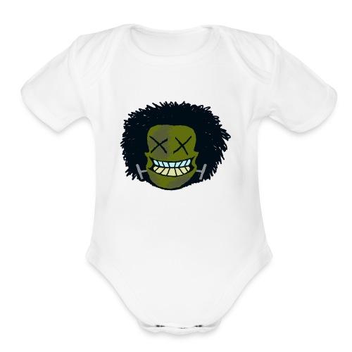 DeadHeadOG_-_messyhead - Organic Short Sleeve Baby Bodysuit