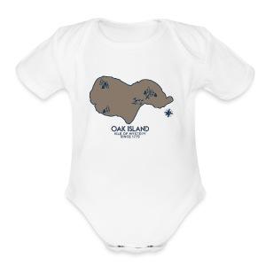 Oak Island - Short Sleeve Baby Bodysuit