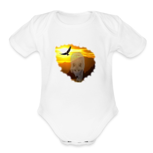 Sunsets and the spirit of the wilderness - Organic Short Sleeve Baby Bodysuit