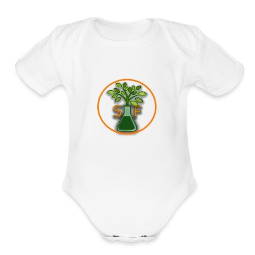 New Channel Logo 2 - Organic Short Sleeve Baby Bodysuit