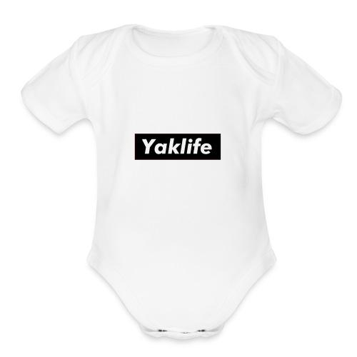 YAKLIFE'S MERCH - Organic Short Sleeve Baby Bodysuit