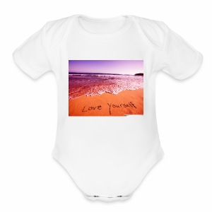 on beach love yourself wallpapers 1024x768 - Short Sleeve Baby Bodysuit