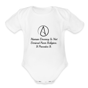 Human Decdncy - Short Sleeve Baby Bodysuit