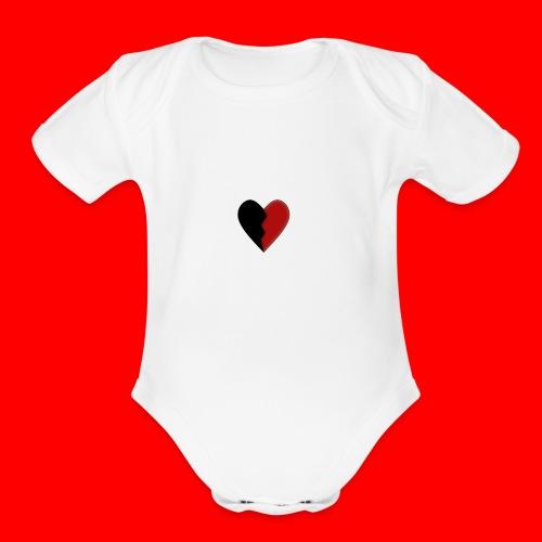 lil hearts (2lit clothing) - Organic Short Sleeve Baby Bodysuit