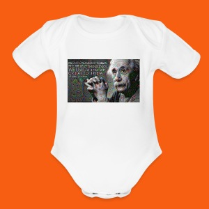 ES1 Einstein Quote - Short Sleeve Baby Bodysuit