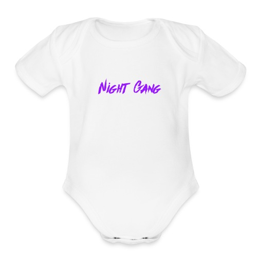 Night Gang logo - Organic Short Sleeve Baby Bodysuit