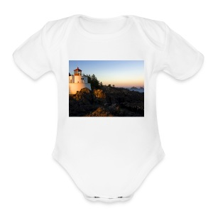 Lighthouse - Short Sleeve Baby Bodysuit