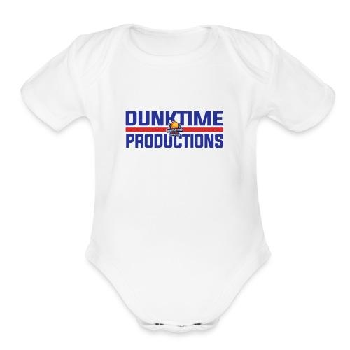 DUNKTIME Retro logo - Organic Short Sleeve Baby Bodysuit