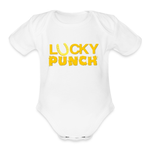 LUCKY PUNCH - Organic Short Sleeve Baby Bodysuit