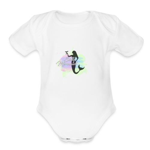 Dark Mermaid - Organic Short Sleeve Baby Bodysuit