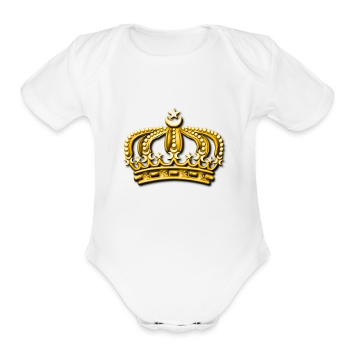 Gold crown - Organic Short Sleeve Baby Bodysuit