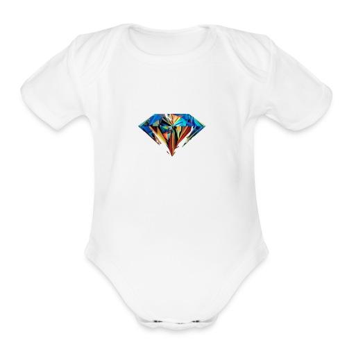 The Diamond - Organic Short Sleeve Baby Bodysuit