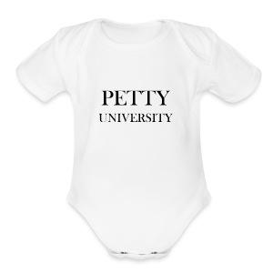 Petty University - Short Sleeve Baby Bodysuit